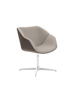 Isotta Wood Soft Armchair - Swivel